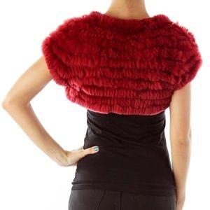 BCBGMaxAzria Sweaters - BCBGMaxAzria | Black Rabbit Fur Bolero Sweater L